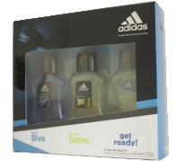 Adidas férfi ajándékcsomag EDT, get Ready 50ml+Ice Drive 50ml+Pure Game 50ml