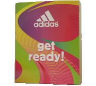 Adidas női Get Ready ajándékcsomag, EDT 50ml + Dezodor 150ml