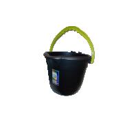 Felmosóvödör műanyag  12L Fekete sárga szegéllyel